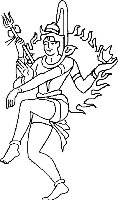 shiva line drawing