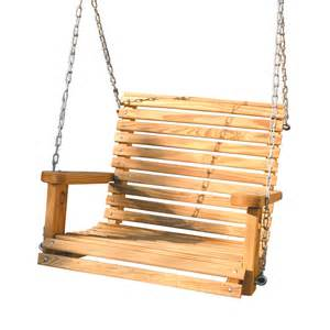 shop gorilla playsets wood casual porch swing at lowes