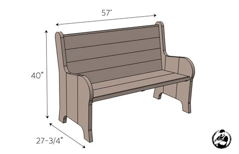 church pew dimensions