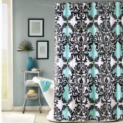 Buy black and white fabric shower curtains from bed bath amp beyond