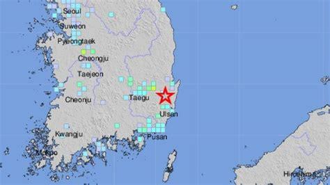 earthquake korea 5 4 magnitude quake hits southern south korea usgs