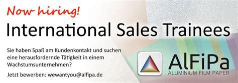 sales trainee international sales trainee programm alfipa