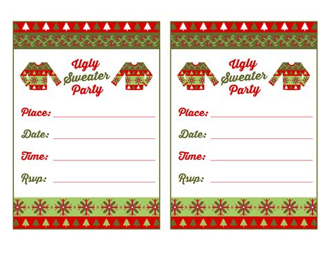 Printable Ugly Christmas Sweater | free ugly sweater party printables from printabelle