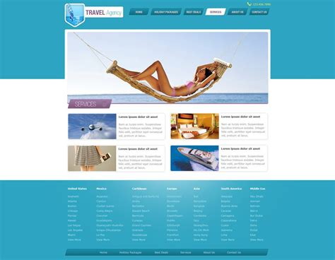Travel Website Template Free Travel Agency Website Templates Phpjabbers Travel Template