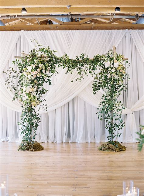 Easy Wedding Backdrop by This For An Indoor Ceremony Chris Isham Photography