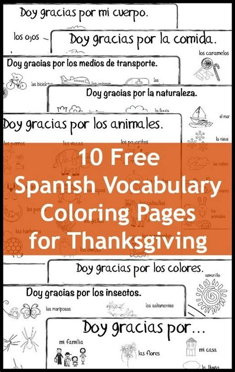 free printable spanish thanksgiving cards 17 best images about spanish for kids on pinterest