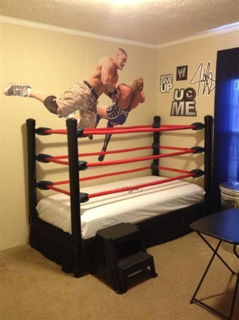 wwe bedroom how to make a diy wwe wrestling bed under 100 snapguide