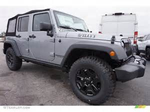 Jeep Wrangler Unlimited Willys Billet Silver Metallic 2015 Jeep Wrangler Unlimited Willys