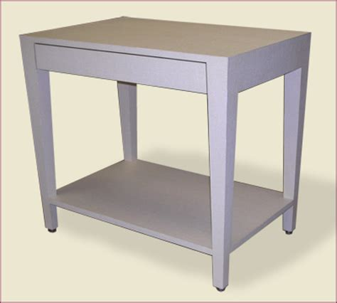 Parsons Tables With Drawers by Lacquered Grass Cloth High End Custom Built Furniture Sold