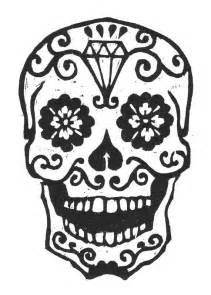 day of the dead skull template sugar skull woodcut by librarianartist on etsy 20 00