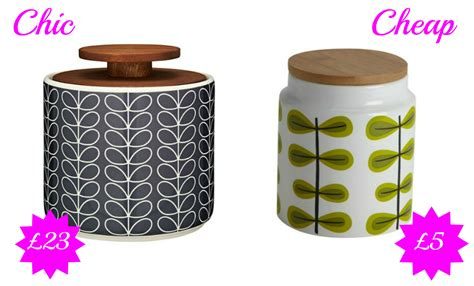 My Kitchen Makeover - chic vs cheap retro storage jars love chic living