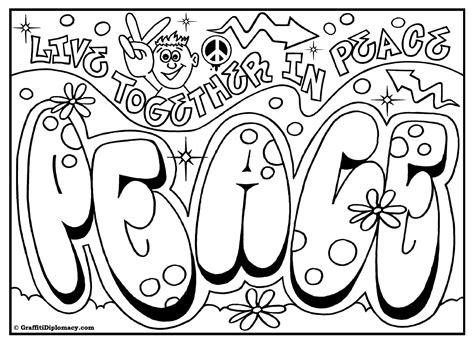 Omg Another Graffiti Coloring Book Of Room Signs Learn Coloring Pages Of Graffiti