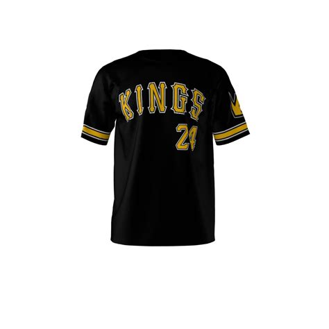jersey design gold kings softball jersey sublimation kings