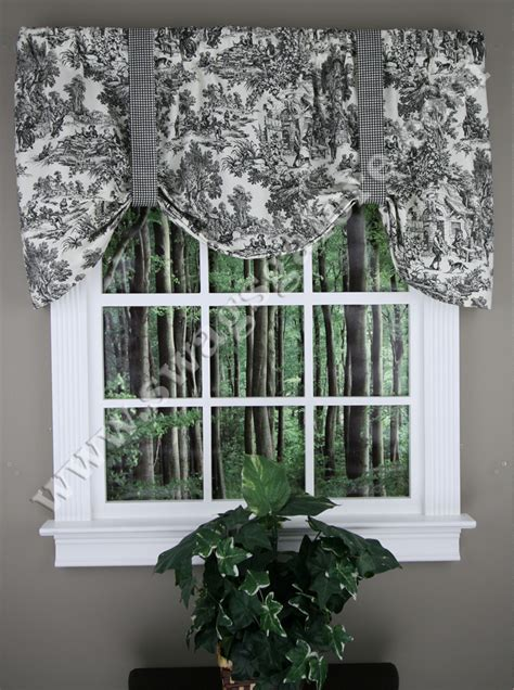 Tie Up Valance Kitchen Curtains Park Tie Up Curtain Black Toile Ellis Kitchen Valances