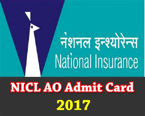 National Insurance Last Letter nicl admit card 2017 national insurance ticket call