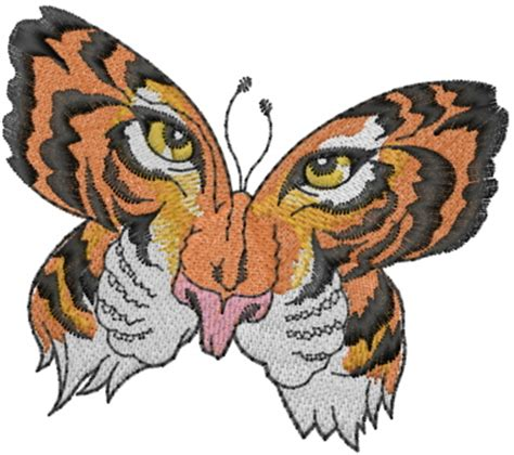 tiger face butterfly embroidery designs machine