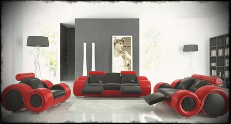 home decor funky design funky leather sofas with black and red color for ultra
