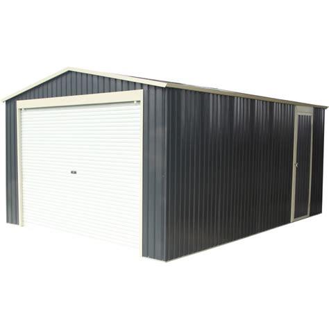 cocheras en kit garaje en metal antracita 17 31m 178 puerta enrollable kit