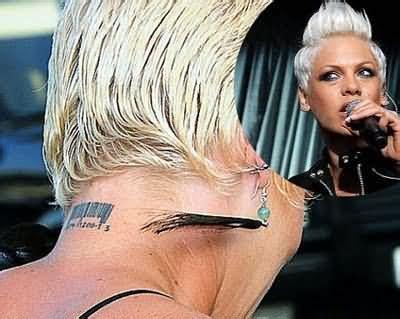 barcode tattoo neck movie bar code tattoo on celebrity tattoo neck