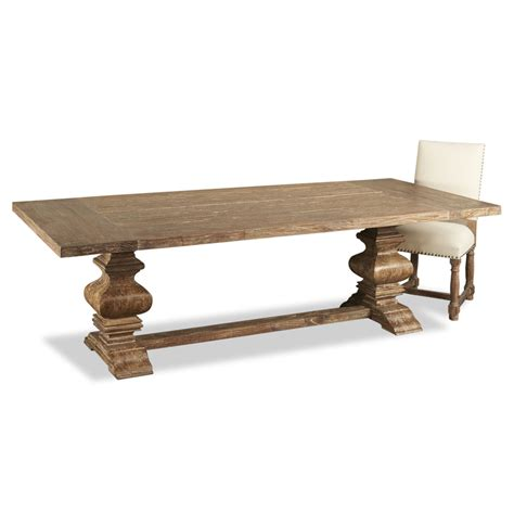 Dining Table L Sveti Country Aged Wood Trestle Base Dining Table 98 Quot L