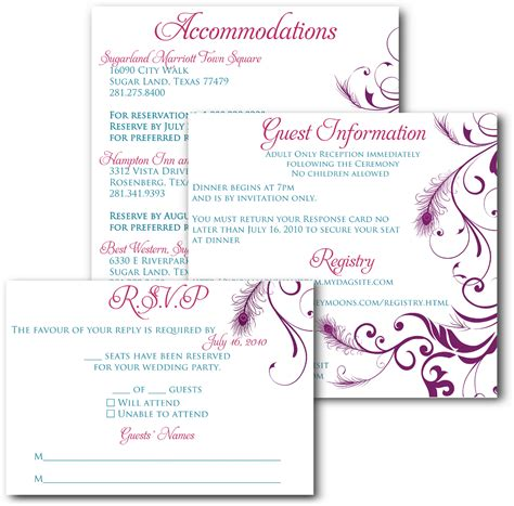 wedding inserts template signatures by wedding invitation inserts for