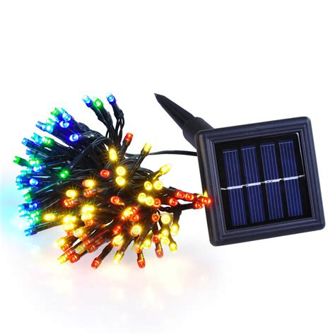 solar outdoor xmas tree lights 60 100 led solar power string light wedding party xmas