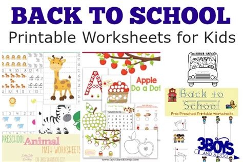printable worksheets back to school back to school worksheets 3 boys and a dog 3 boys and