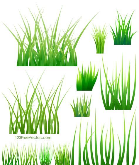 grass clipart free green grass vector 123freevectors