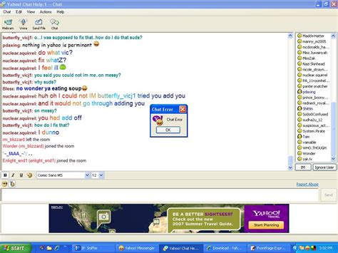yahoo chat room review of chat rooms