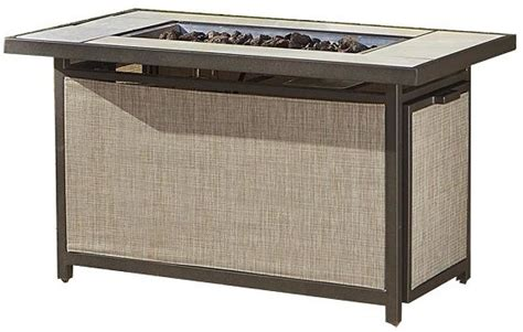 Gas Pit Table With Lid Cosco 88533dbte Brown Outdoor Serene Ridge Aluminum