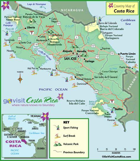 maps costa rica costa rica map costa rica go visit costa rica