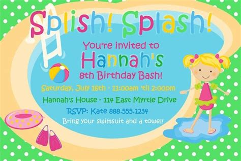 Swimming Party Invitation Template Free Orderecigsjuice Info Pool Invitation Templates Free