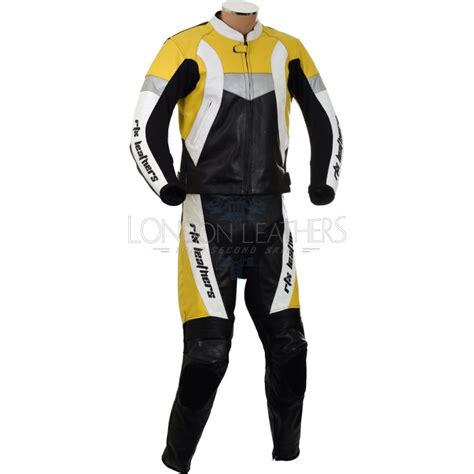 motorcycle suit rtx violator yellow leather motorcycle suit