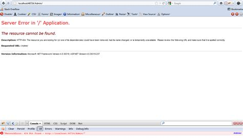 layoutinflater resource not found c mvc3 resource not found default area page stack