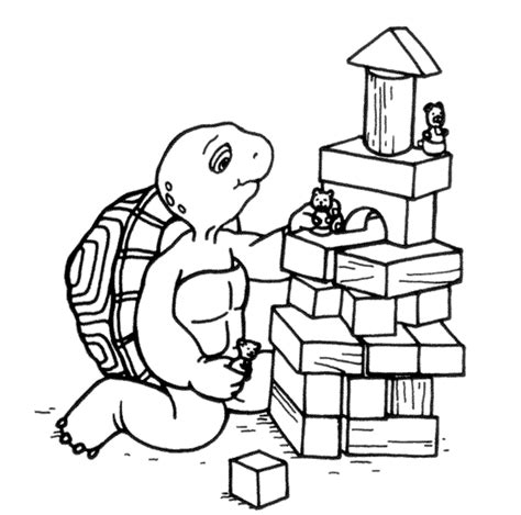 franklin the turtle coloring pages coloringpagesabc com