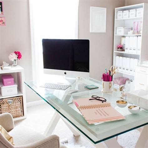 modern glass desks for home office 20 feminine glass desks for modern workspaces house