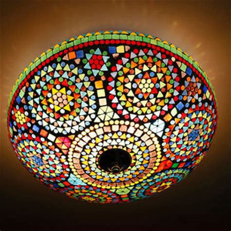 Mosaic Ceiling Light Mosaic Ceiling Light 216 38 Cm 15 Inch From Interliving On Etsy