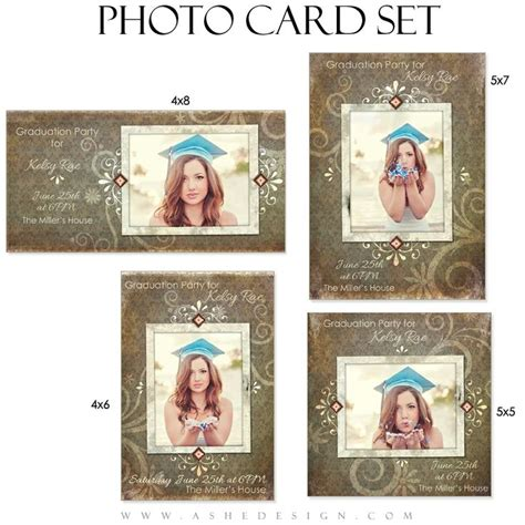 free 4x8 card templates photoshop senior photo card set shabby chic senior