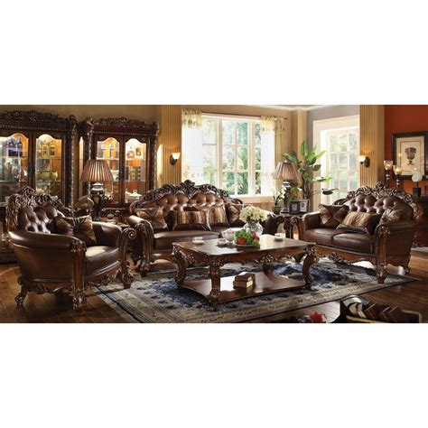 Acme Living Room Furniture Acme Vendome Living Room Set In Cherry For From 3 688 00 To 9 046 40 In Living Room Seating