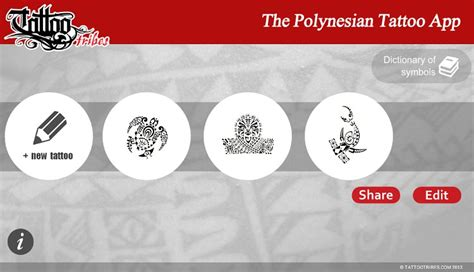 design your own polynesian tattoo the polynesian app