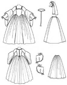 costume drawing template simplicity 2589 misses tudor costume