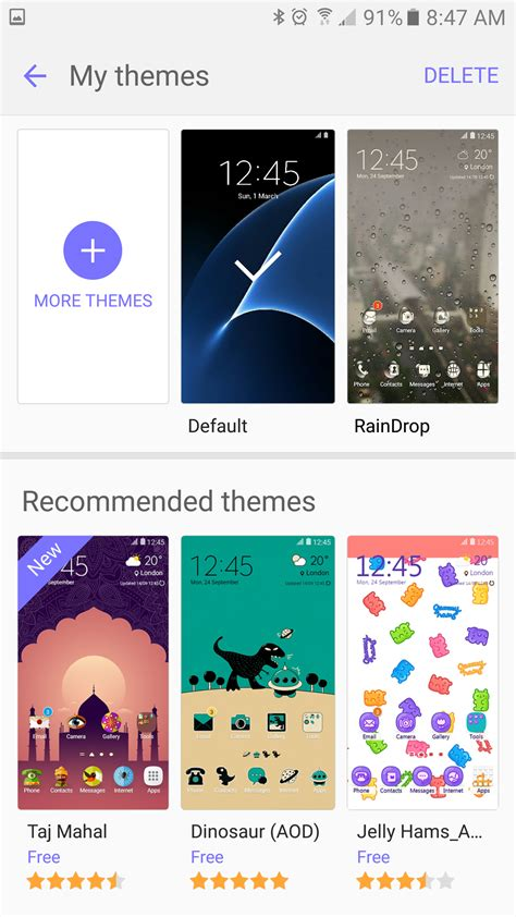 themes for android samsung galaxy s4 how to use themes on the galaxy s7 and s7 edge