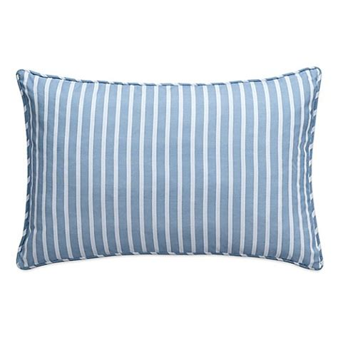 blue throw pillows for bed nautical map striped oblong throw pillow in light blue