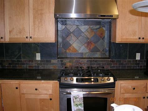 slate backsplash kitchen backsplash