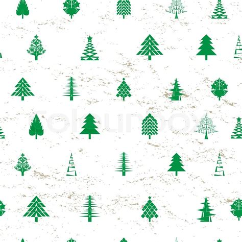 christmas tree grove pattern abstract christmas tree pattern stock vector colourbox