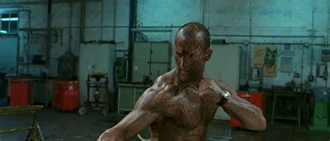 film action fight jason statham in the transporter oil fight scene