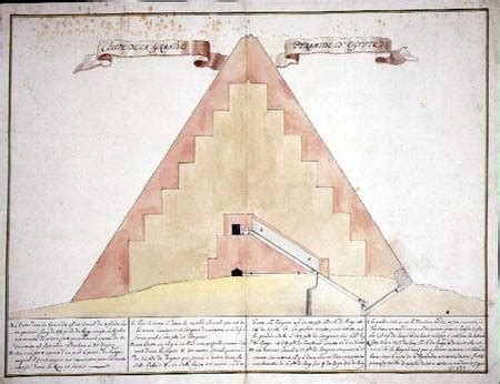 pyramid cross section a cross section of the pyramids of egypt french school