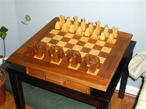 custom chess sets handmade chess set and board by the plane edge llc custommade