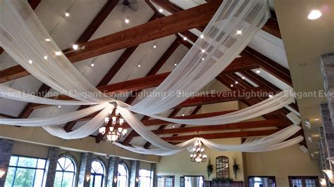 how to drape a ceiling for a wedding eel chicago year in review ceiling drapingelegant event
