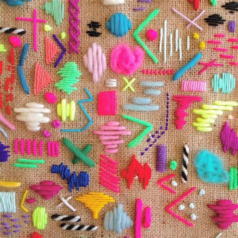 colorful stitches obsessed with these colorful stitches by elizabethpawle